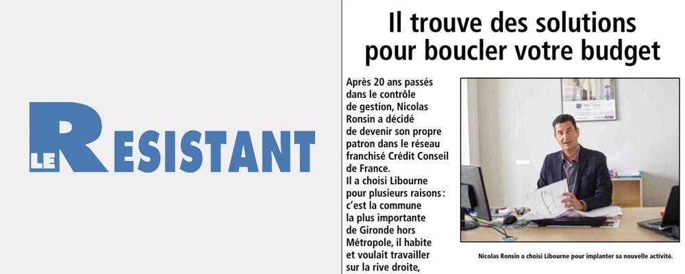 Interview de Nicolas Ronsin, franchisé installé à Libourne - via Le Résistant