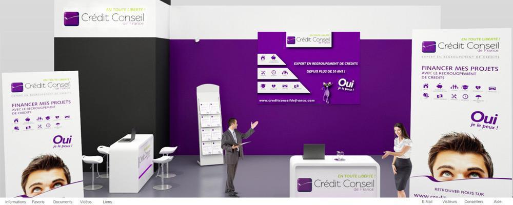 Crédit Conseil de France au salon virtuel de la franchise – mai 2016
