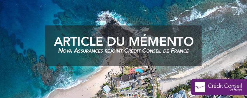 Nova assurance rejoint crédit conseil de france et ouvre deux agences sur l'île de la réunion